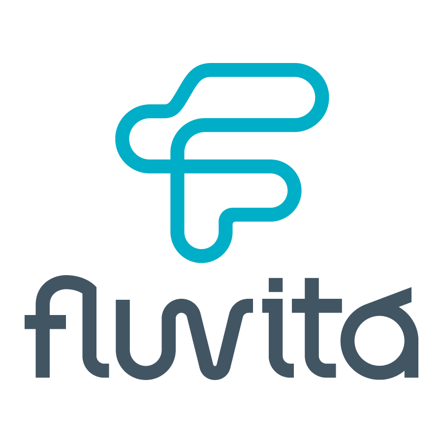 Fluvitá logo design by logo designer Hearted Design & Strategy for your inspiration and for the worlds largest logo competition