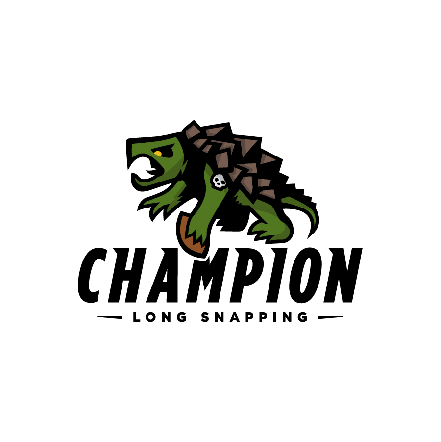 Champion Long Snapping - Combo logo design by logo designer Grant Mortenson for your inspiration and for the worlds largest logo competition