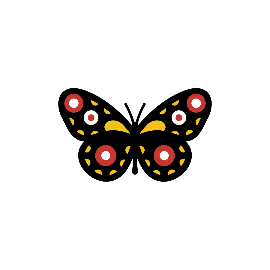 Butterfly logo design by logo designer Grant Mortenson for your inspiration and for the worlds largest logo competition
