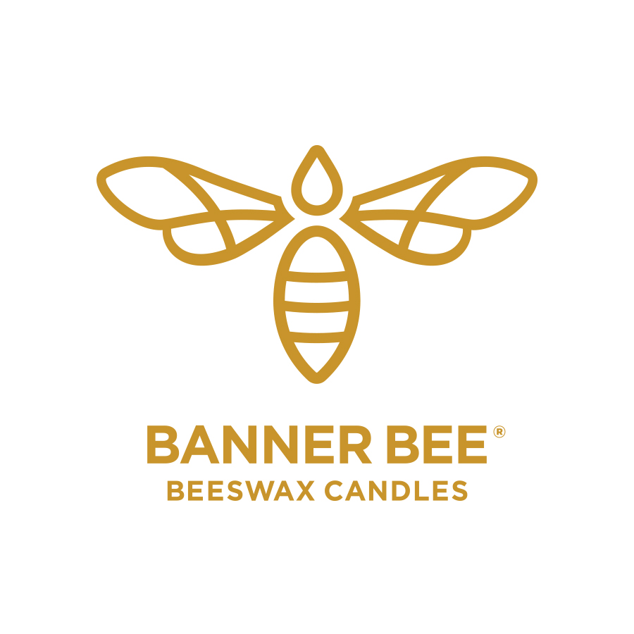 Banner Bee Beeswax Candles