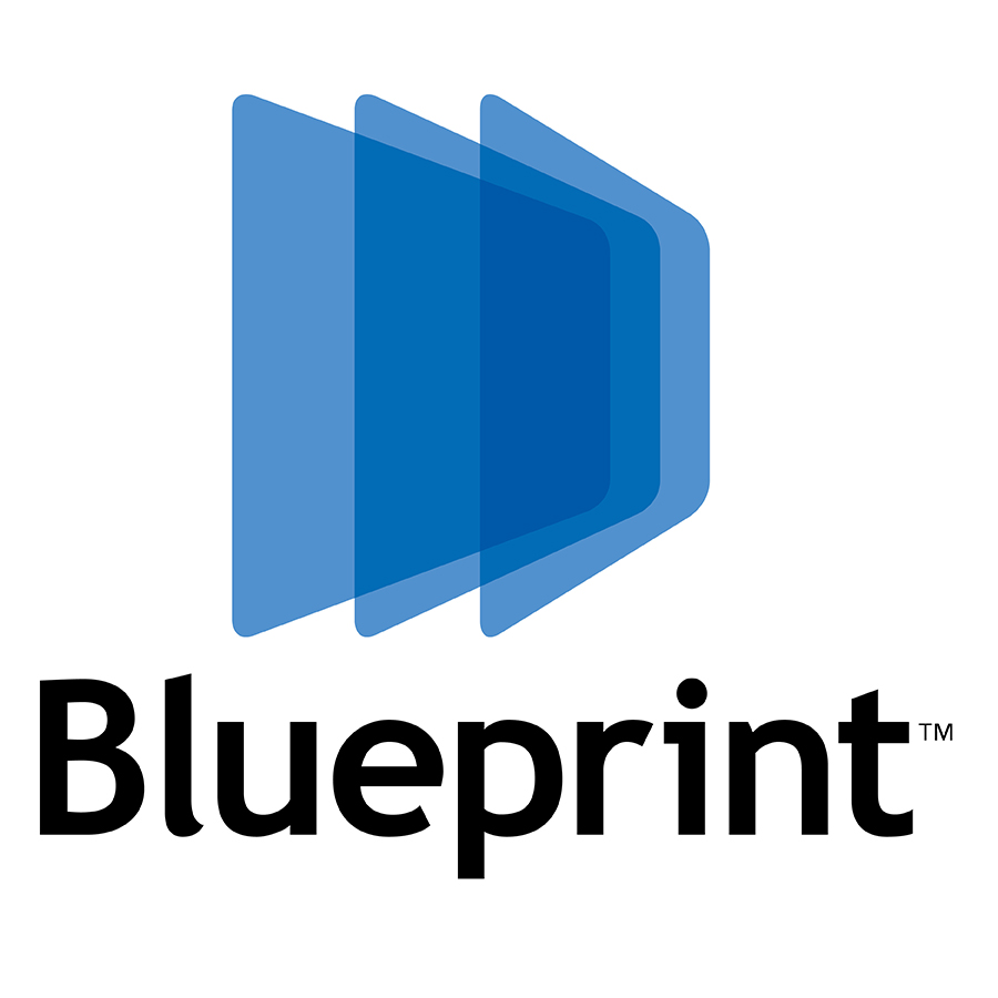 Blueprint logo design by logo designer Greg Walters Design