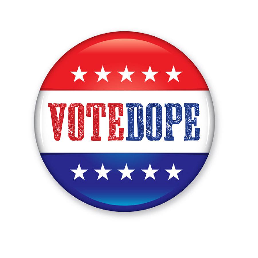 Vote Dope logo design by logo designer Greg Walters Design