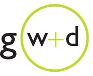 GWDlogo logo design by logo designer Greg Walters Design