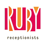 Ruby Receptionists logo design by logo designer Sockeye Creative