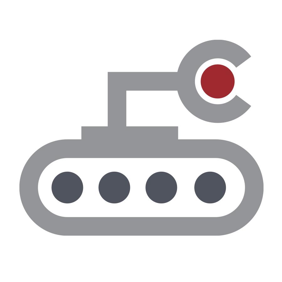 iRobot logo design by logo designer Dustin Commer