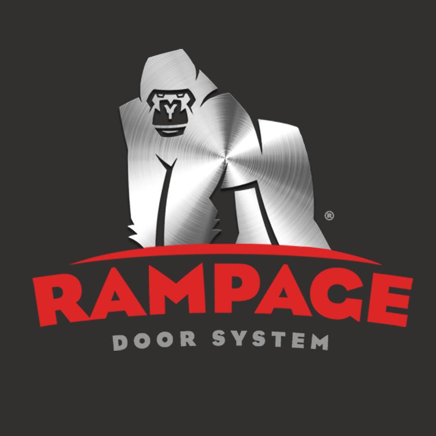Rampage Door Systems logo design by logo designer James Arthur & Co.