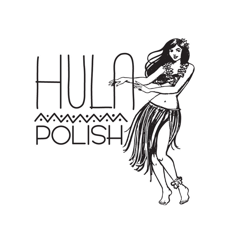Hula Polish logo design by logo designer Organi Studios