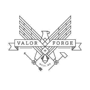 Valor + Forge logo design by logo designer Gearbox for your inspiration and for the worlds largest logo competition