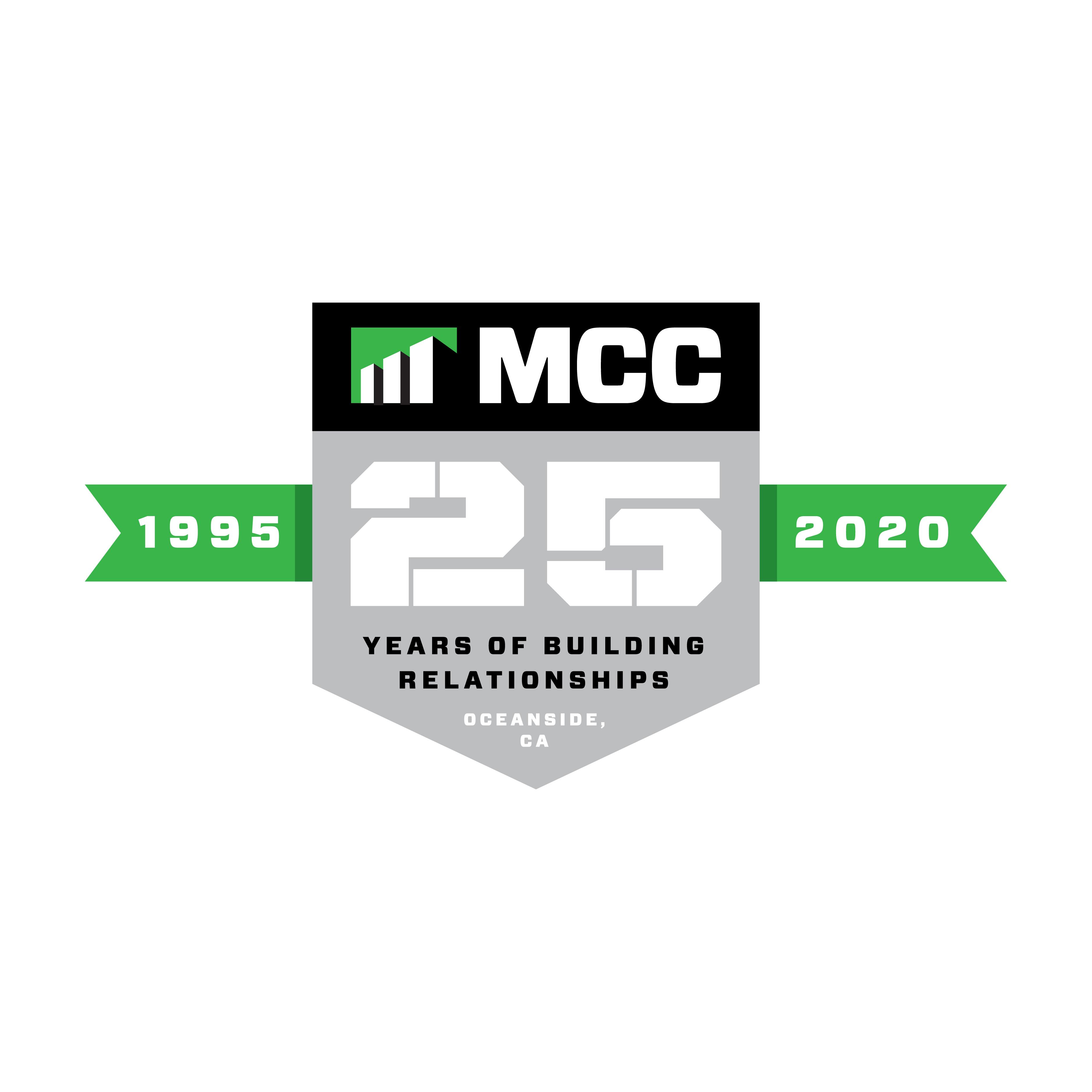MCC 25th Anniversary logo
