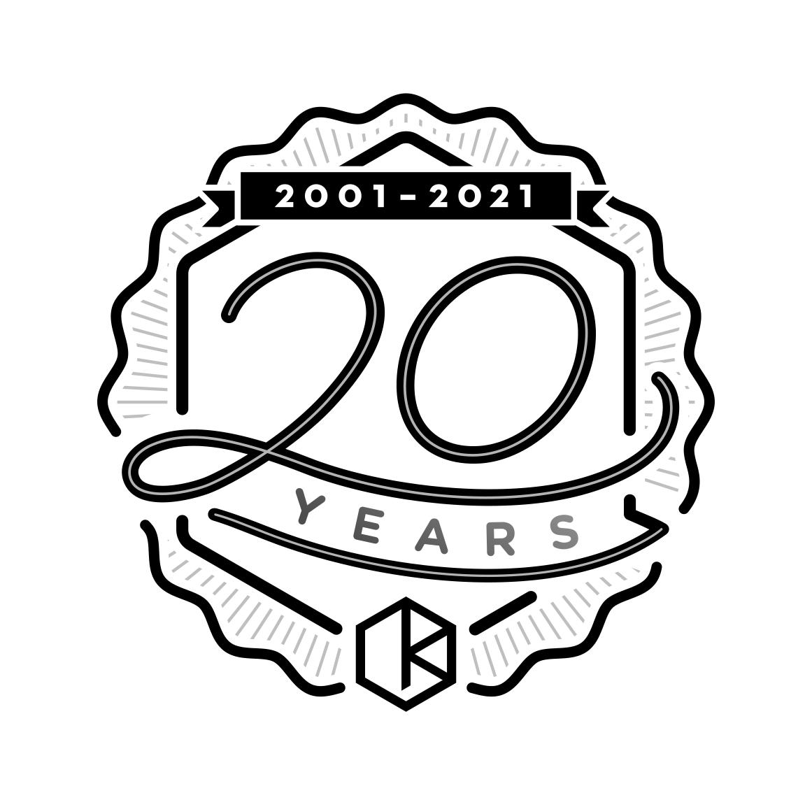 20th KDD Logo C logo design by logo designer Kessler Digital Design